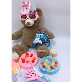 Túi đồ chơi cắt bánh kem nhiều nhân trái cây kèm phụ kiện y hình cho bé mẫu robo trái cây