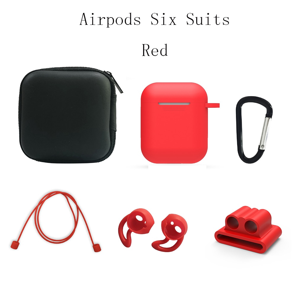 Six Suits Earphone Silicone Case Anti-lost Wire Eartips for Apple Air Pods