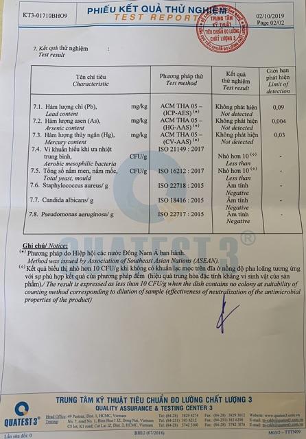 Xà Bông Bồ Hòn Cafe có giấy kiểm nghiệm hạn sử dụng 18 tháng