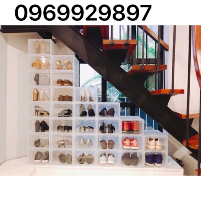 Hộp Size Lớn Hộp Giày Thông Minh Song Long 2706 (Hàng đẹp loại 1 ) Hộp nhựa cứng nguyên khối cao 18 cm