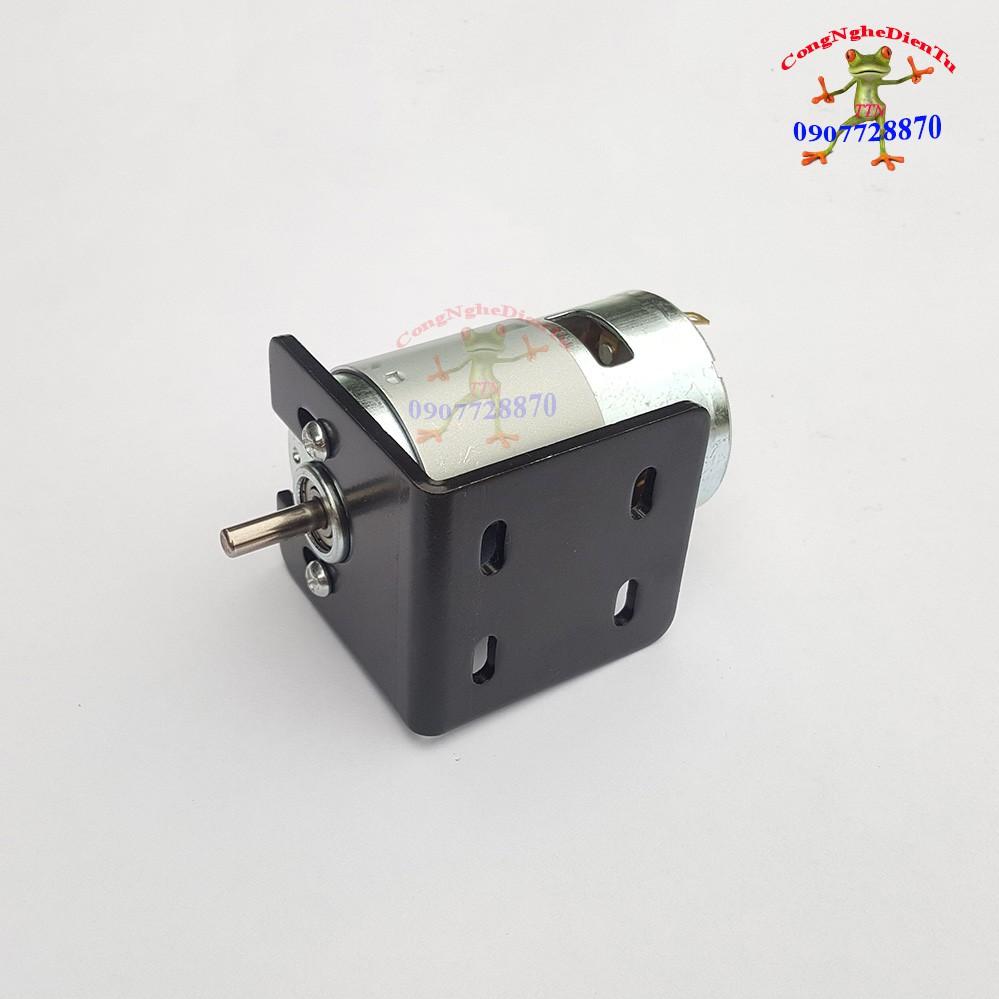 Motor 775 trục tròn 12v - 24v có bạc đạn + có đế