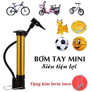 Ống bơm mini cầm tay đa năng (TẶNG 1 kim) bơm bóng đá bóng rổ bóng chuyền…xe đạp, phao, nhỏ gọn dễ mang