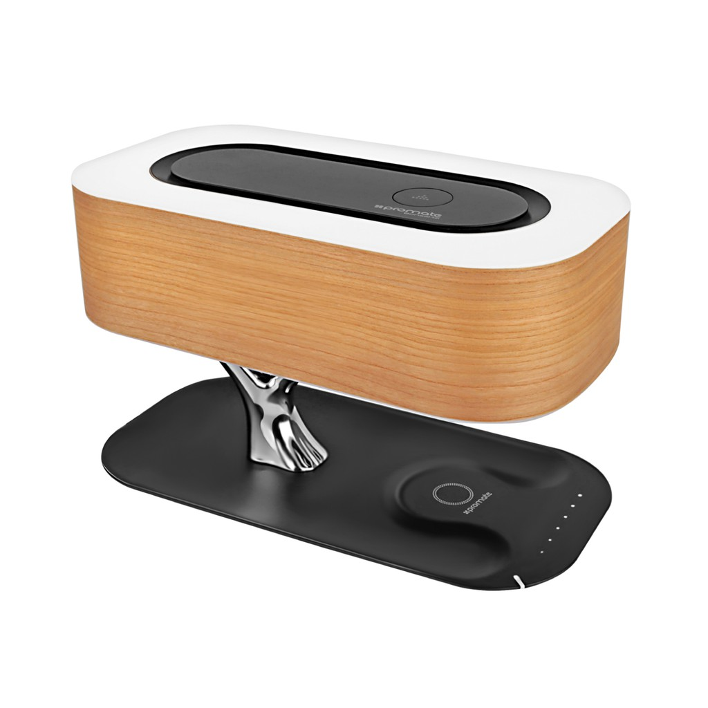 Loa Bluetooth Promate Bonsai-Qi.US sạc không dây kèm đèn LED