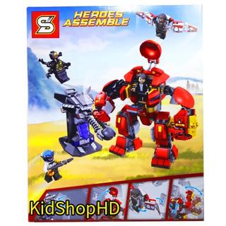 Bộ Lego Xếp Hình Super Heroes Người Sắt. Gồm 420 Chi Tiết. Lego Ninjago Lắp Ráp Đồ Chơi Siêu Nhân Người Sắt Cho Bé