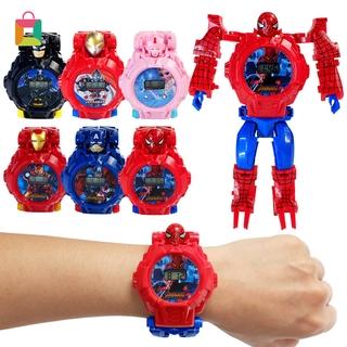 Đồng hồ điện tử biến hình robot độc đáo dành cho em bé