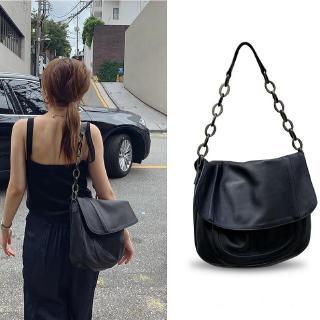 Túi đeo vai màu trơn bằng da PU thời trang Hàn Quốc cho nữ