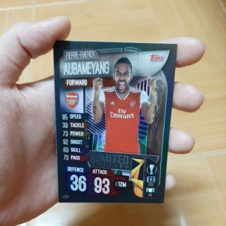 Thẻ Match Attax Aubameyang Silver Limited Edition