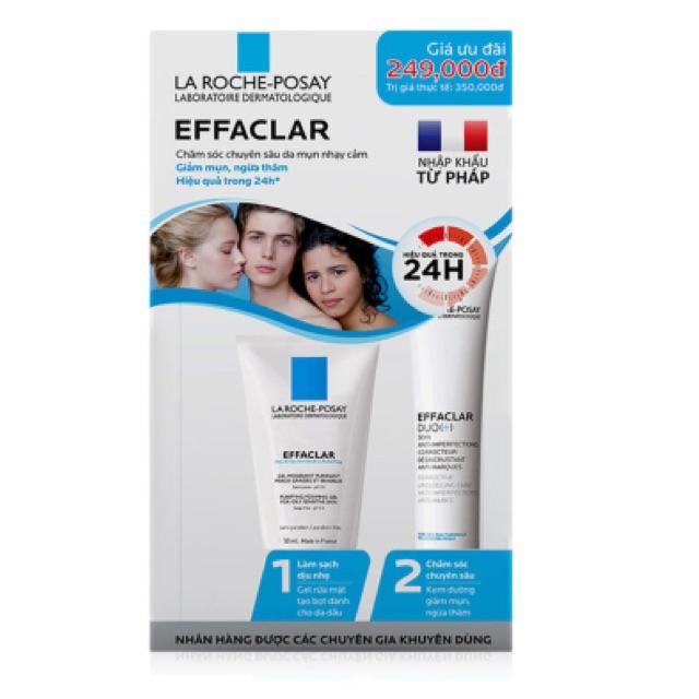 Bộ sản phẩm trị mụn La Roche-Posay Effaclar Trial Kit - 2494557 , 373109567 , 322_373109567 , 260000 , Bo-san-pham-tri-mun-La-Roche-Posay-Effaclar-Trial-Kit-322_373109567 , shopee.vn , Bộ sản phẩm trị mụn La Roche-Posay Effaclar Trial Kit