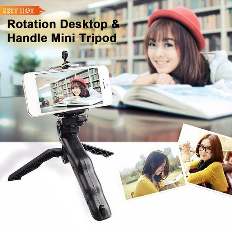 Grip Stabilizer Portable Mobile Phone Monopod Rubber Pad Handheld Video Mini Tripod Camera Accessories