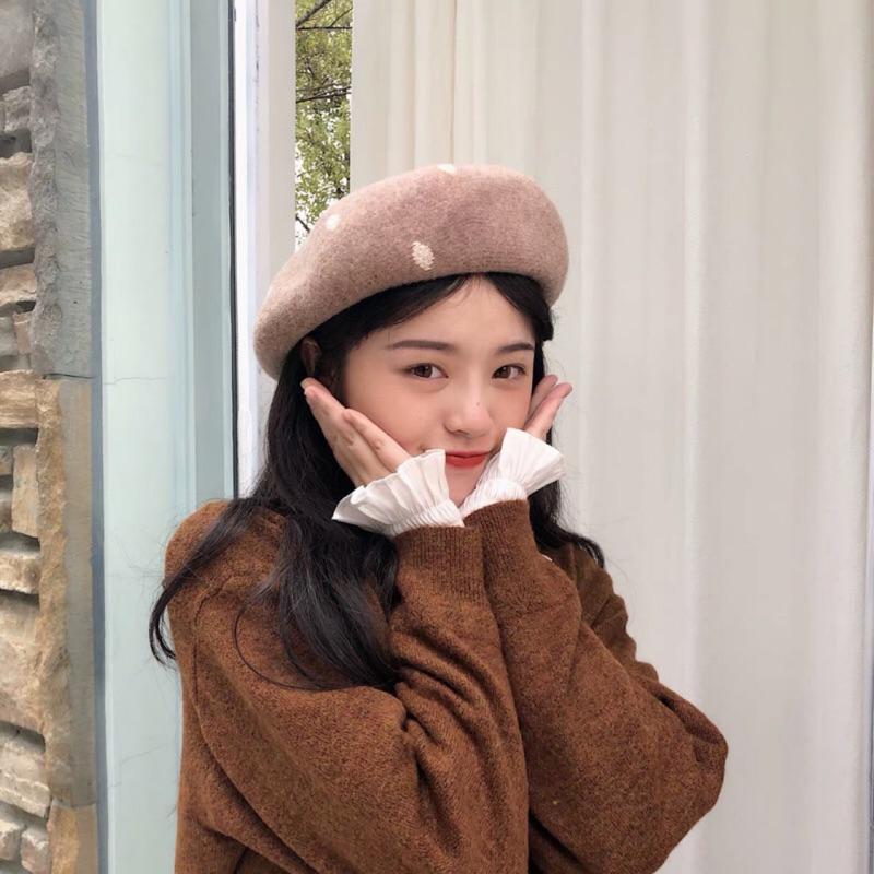 mũ beret dễ thương cho nữ