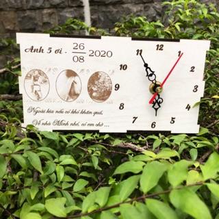 Quà tặng Đồng hồ khắc hình ảnh quà tặng ý nghĩa, 8/3, 20/10, kỷ niệm, đám cưới, sinh nhật