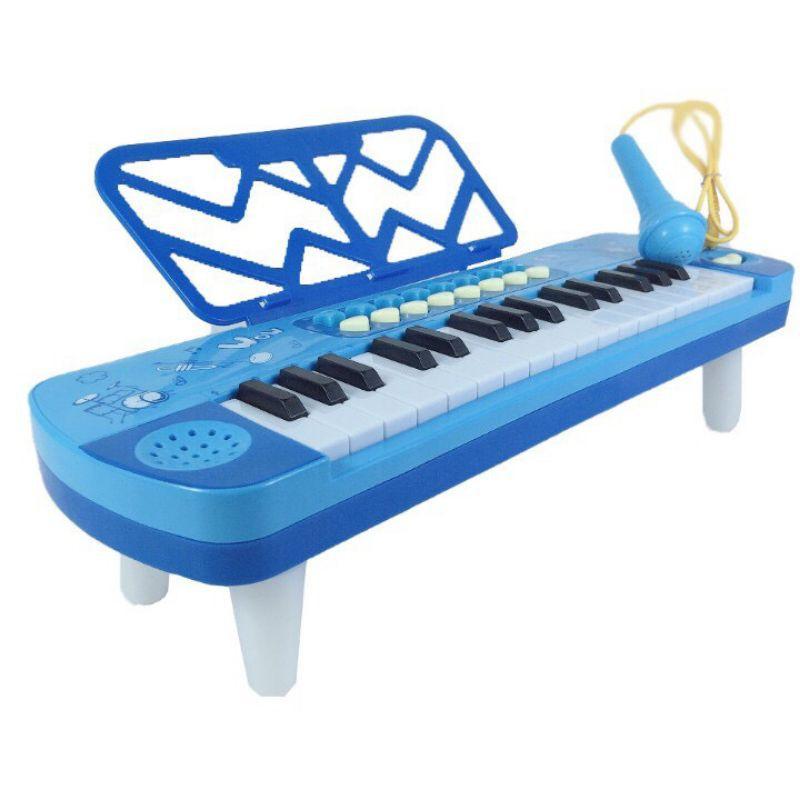 ĐÀN PIANO ĐỒ CHƠI CHẠY BẰNG PIN KÈM MIC (có ảnh thật)