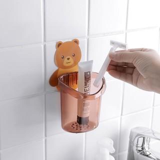 Combo 3 giá đựng bàn chải trong nhà tắm in hình gấu xinh xắn