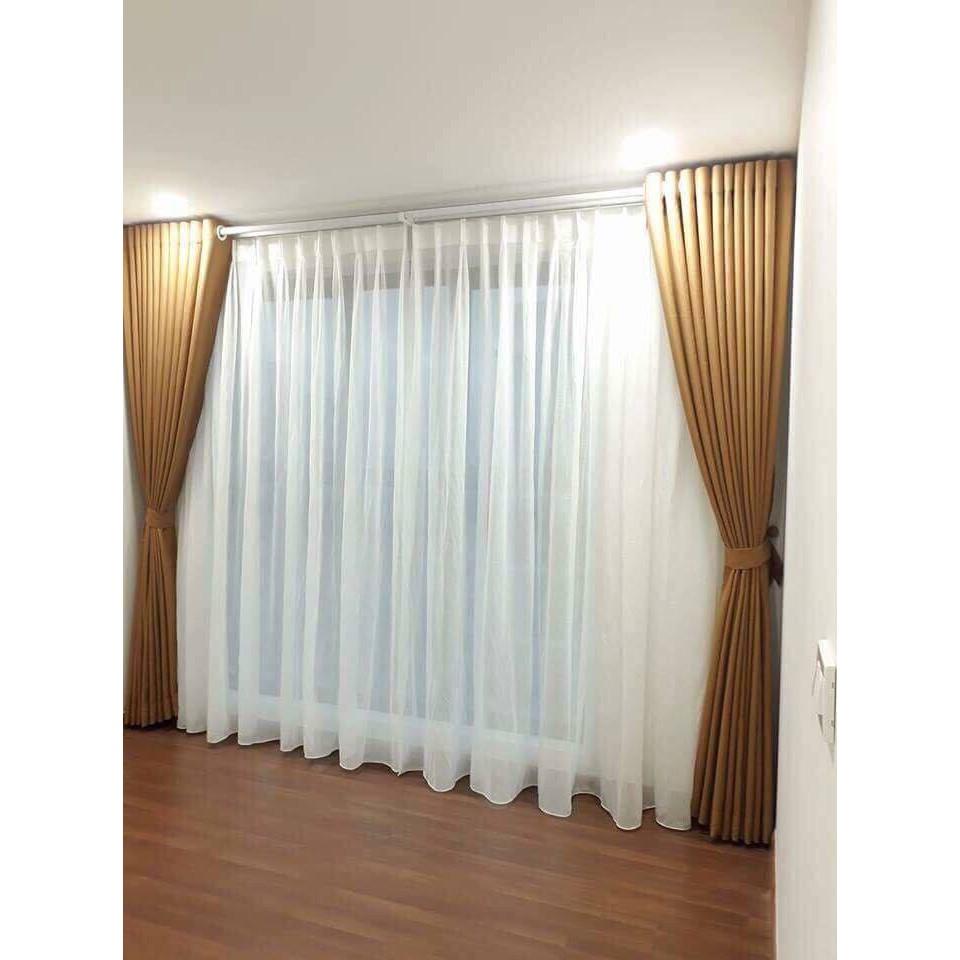 Rèm cửa chính may sẵn kích thước 2mx2m7 vải gấm nhiều màu sắc
