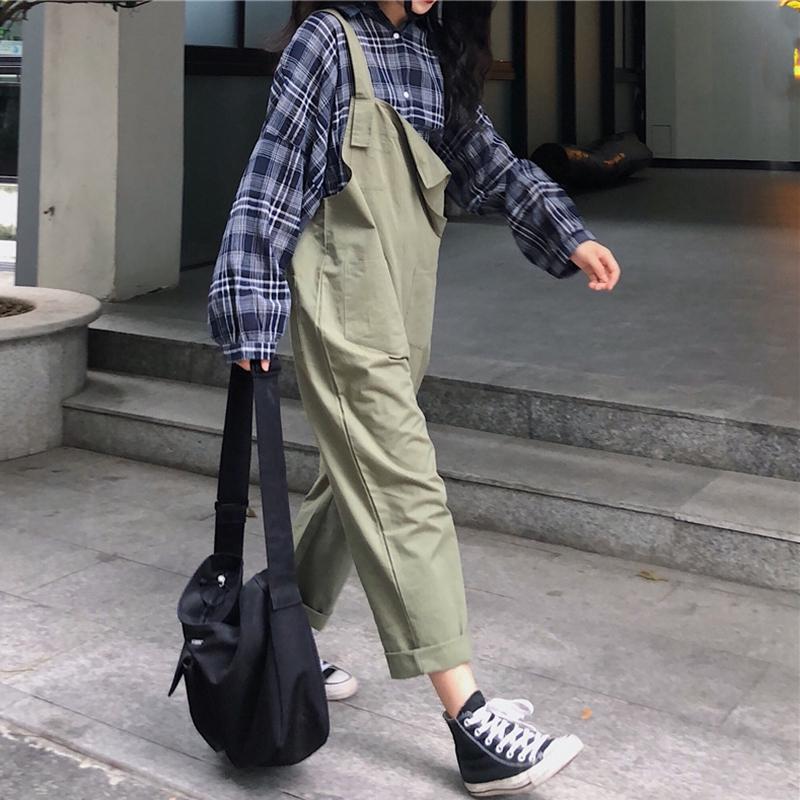 ฤดูใบไม้ผลิและฤดูร้อนใหม่เกาหลีหลวมป่าสาวหวานขับรถกางเกงสีทึบกางเกงนักเรียนหญิง