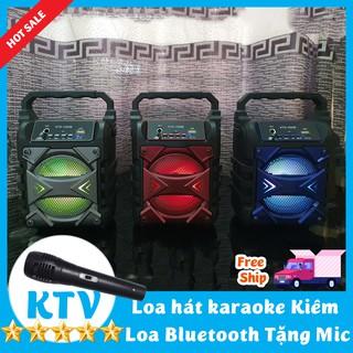 Loa Kẹo Kéo, Loa Bluetooth Hát kiêm Hát Karaoke Tặng mic có dây Công Xuất Lớn Tiện Lợi Model Mới 2021
