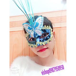SK-mặt nạ lông vũ có đèn-( MK3) |shopee. VnShopdenledz