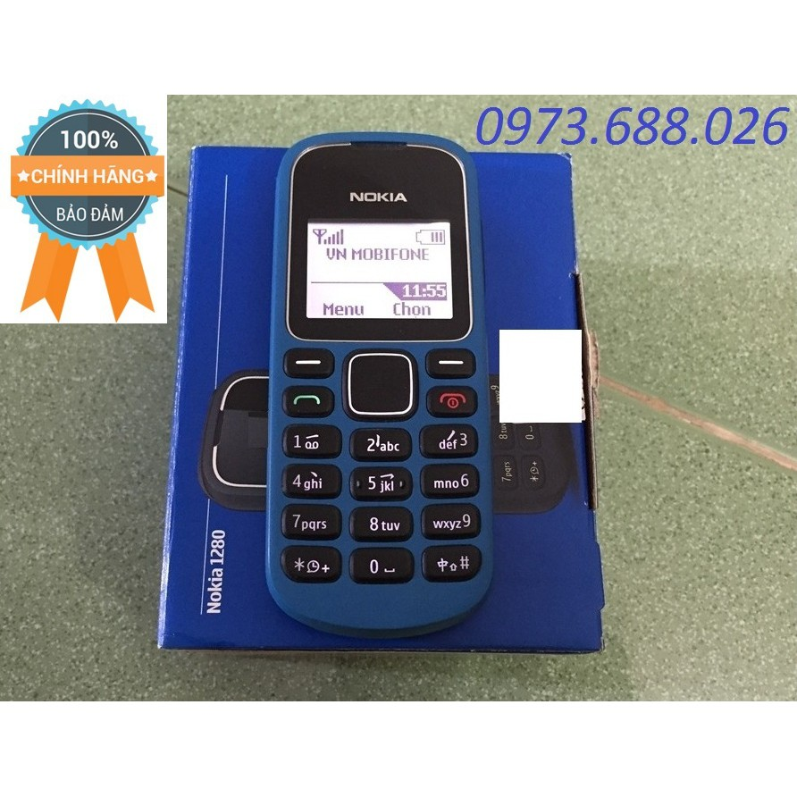 Nokia 1280 Zin Chính Hãng Cty Cũ Thay Sườn Vỏ Mới, Pin Sạc Mới