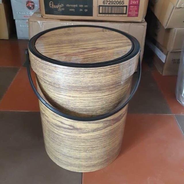 Thùng đựng rác vân gỗ - 3158388 , 1090903905 , 322_1090903905 , 70000 , Thung-dung-rac-van-go-322_1090903905 , shopee.vn , Thùng đựng rác vân gỗ