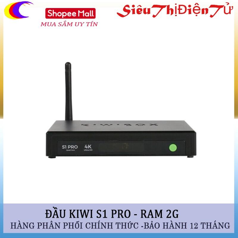 Đầu thu Android tv box Kiwi s1 pro
