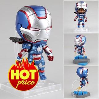 [CÓ SẴN] Mô Hình Iron Patriot Hero's Edition Người Sắt Iron Man 3 Phong Cách Nendoroid 392