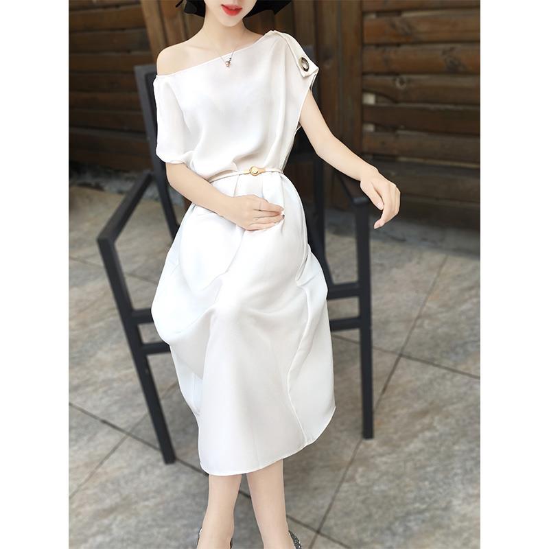 2805649095 - đầm dài màu trơn thời trang nữ tính