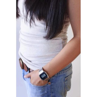 Đồng hồ nam dây kim loại Casio chính hãng Anh Khuê A158WA-1DF