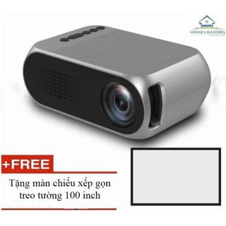 Máy chiếu phim mini YG320 màn ảnh rộng + tặng màn chiếu 100 inch – Home and Garden