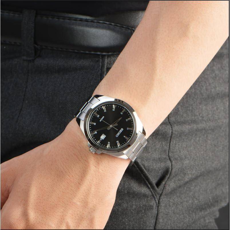 Đồng hồ nam chính hãng Seiko SUR209P1 dây thép, mặt kính Hardlex (Kính cứng) BẢO HÀ