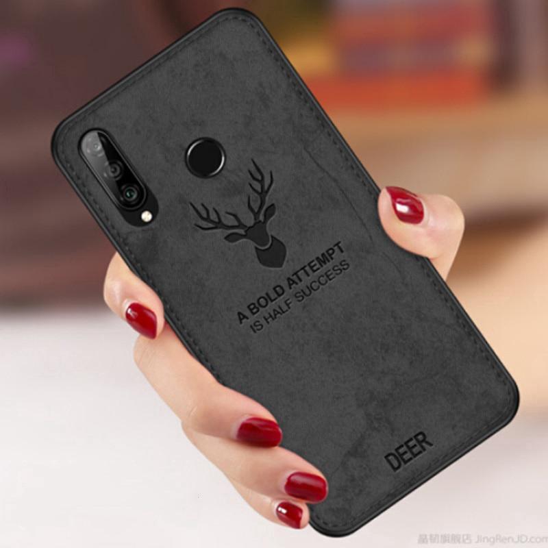 Ốp điện thoại bằng vải họa tiết nai cho Huawei Nova 5T 4e 4 3 3i 3e 2i 2lite Y9 2019/Y7 Pro 2019/Y Max/Y9 2018