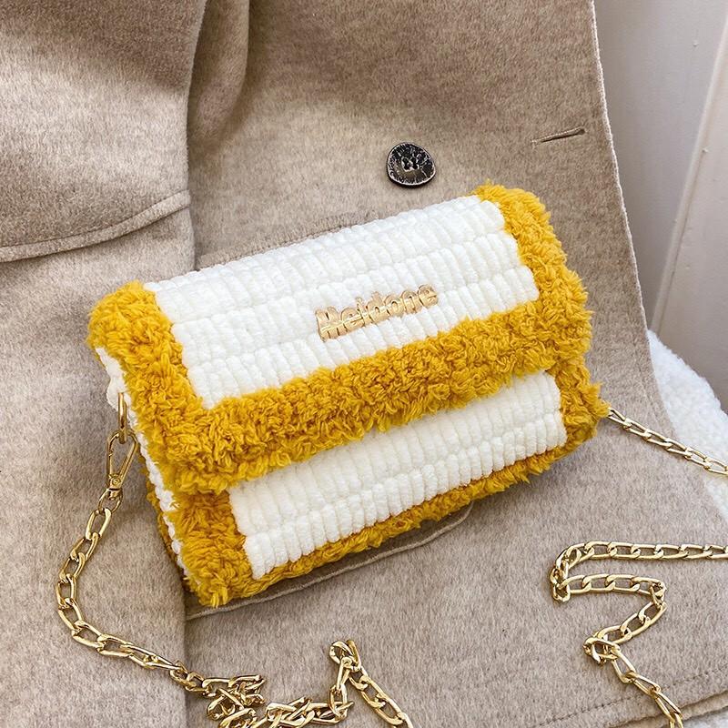 Túi tự đan Handmade  𝑭𝑹𝑬𝑬𝑺𝑯𝑰𝑷  Túi xách nữ Tự Đan Đầy Đủ Phụ Kiện SIÊU HOT TV13