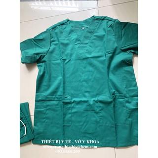 Bộ đồ phẫu thuật, bộ đồ mổ, bộ đồ kỹ thuật viên 4 món: Áo, quần, nón, khẩu trang (vải hấp được)