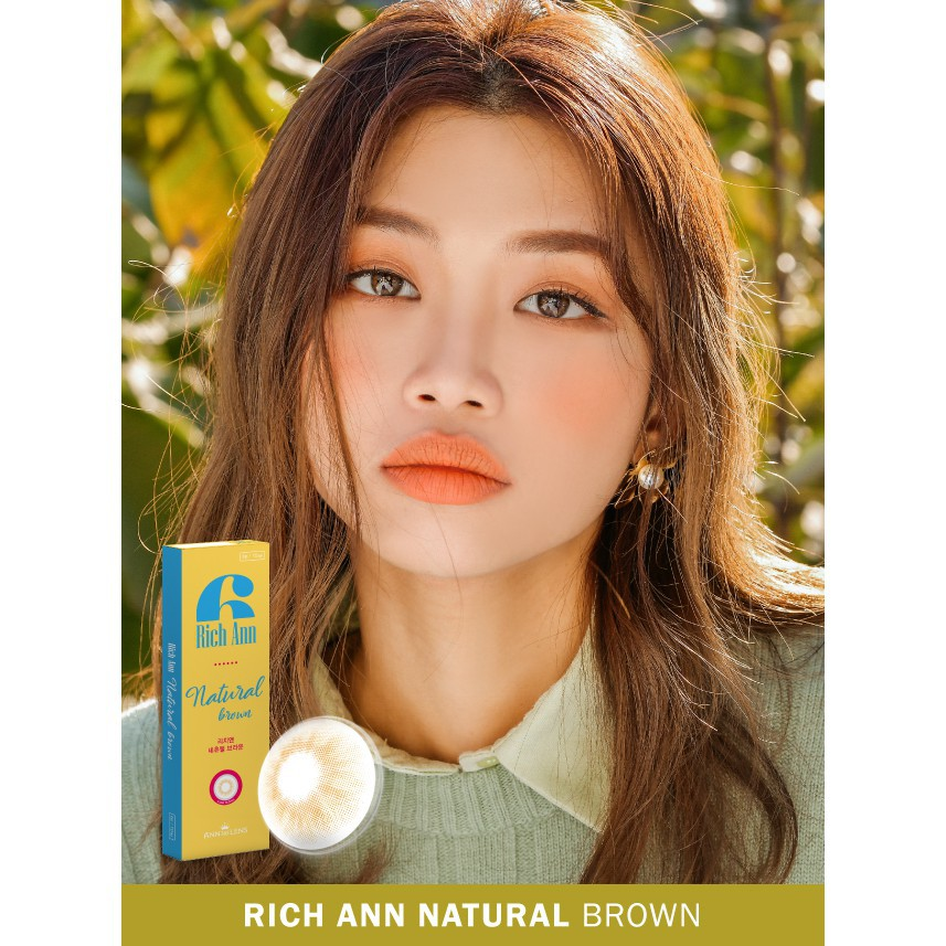 [Siêu ưu Đãi] Kính áp tròng 1 ngày, Lens màu nâu tự nhiên 1 lần, lens nội địa Hàn dùng...