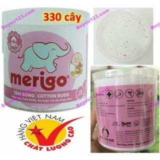 1 Hộp tròn 330 cây tăm bông trẻ em Merigo - Bạch Tuyết thumbnail