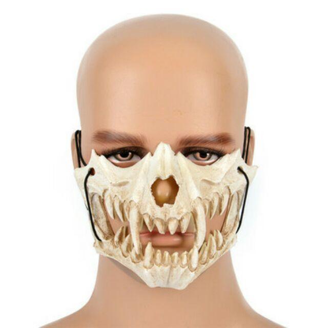 Mặt nạ hóa trang Halloween mặt nạ su giả xương
