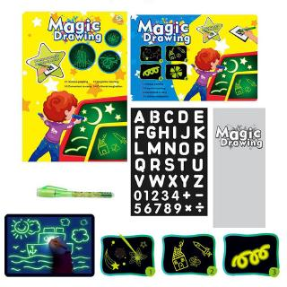 A5/A4/A3 Draw With Light Fun Developing Toy Kids Drawing Board Magic Draw Education