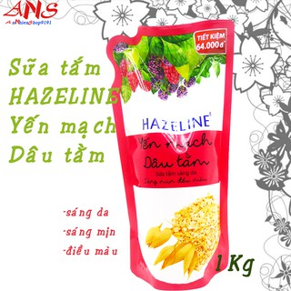 Sữa tắm Hazeline yến mạch dâu tằm túi 1 kg thumbnail