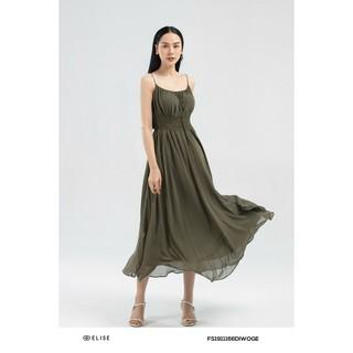 Đầm xanh rêu 2 dây thiết kế Elise thumbnail