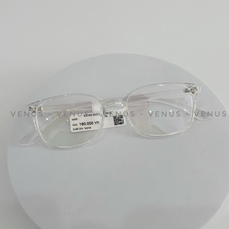Gọng Kính Cận Nhựa Dẻo VENUS Dáng Mắt Vuông Bầu 206 - Lắp Mắt Cận Theo Yêu Cầu