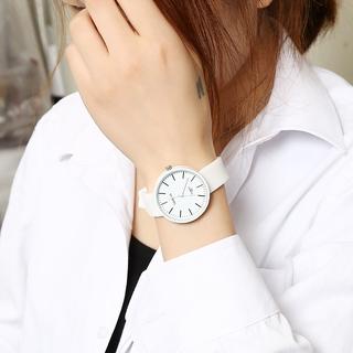 Đồng hồ dây đeo silicon thời trang phong cách retro dành cho nữ