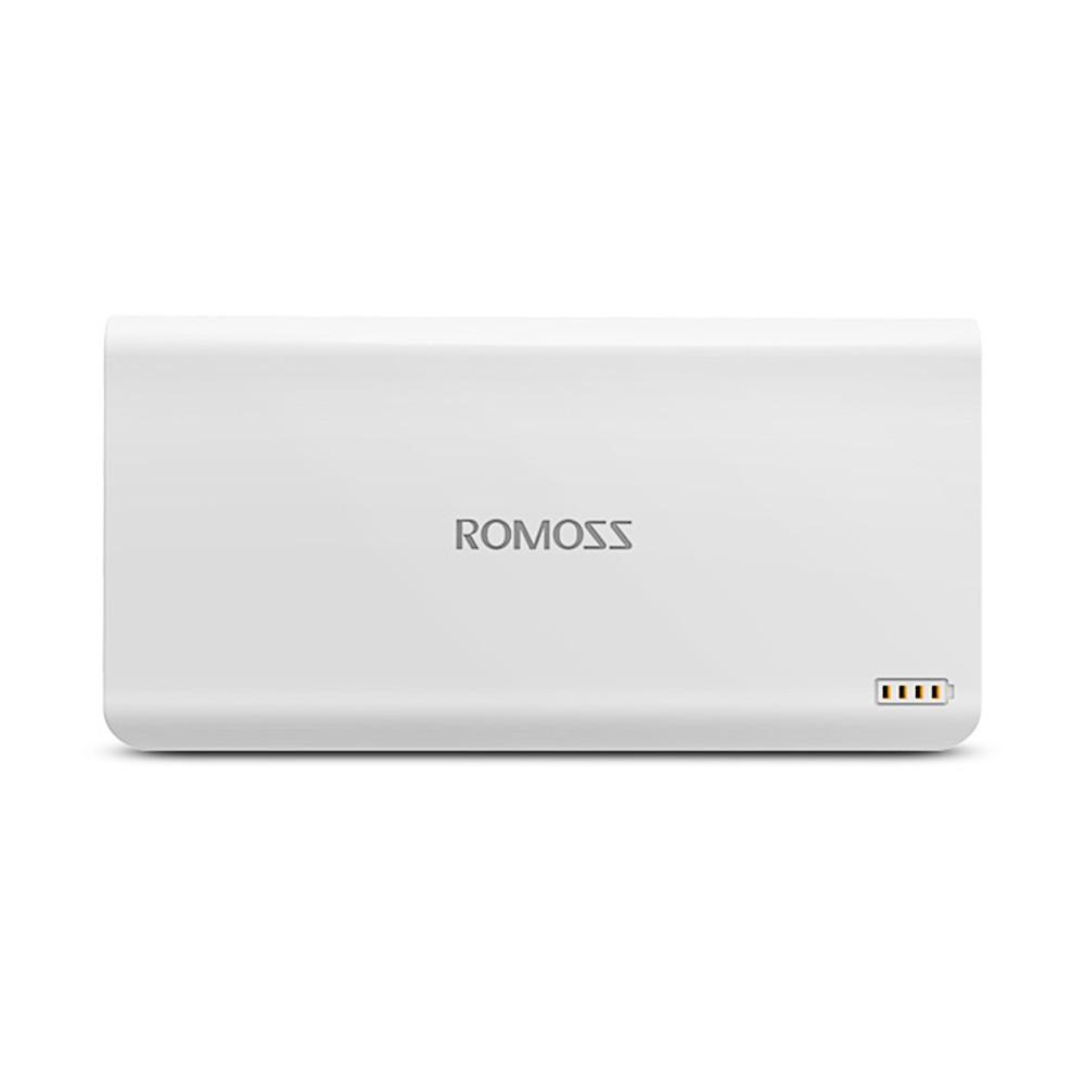 Pin sạc dự phòng Romoss Polymos 20 20.000mAh lõi Polymer tặng Cáp micro USB tròn Romoss dài 1m-123shop
