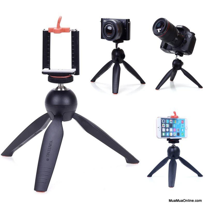 Chân gậy tự sướng YT-288 đa năng có kèm kẹp điện thoại máy ảnh