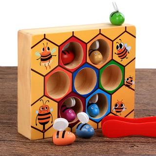 Bộ đồ chơi gắp ong montessori (luyện vận động tinh)