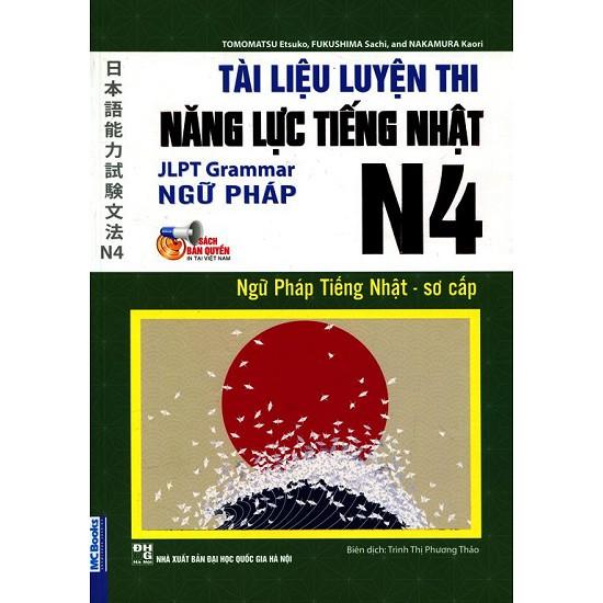 Sách - Tài Liệu Luyện Thi Năng Lực Tiếng Nhật N4 Ngữ Pháp