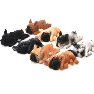 Dollhouse Resin Mini Cute French Bulldogs Model 1:12 1:6 Dollhouse Decor