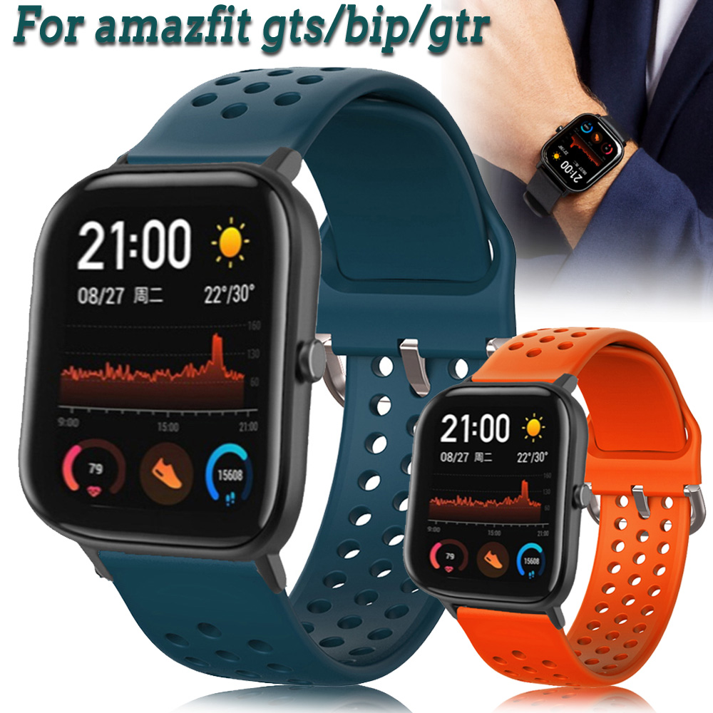 Dây Đeo Silicon 20mm Cho Đồng Hồ Thông Minh Amazfit Gts Bip Gtr 42mm