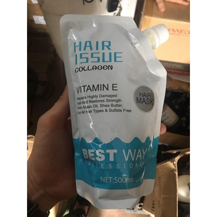 HẤP PHỤC HỒI TÓC COLLAGEN HAIR ISSUE BEST WAY 500ML