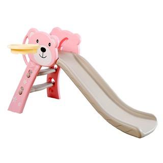Cầu trượt chú gấu nhỏ có rổ bóng cho bé LHT05