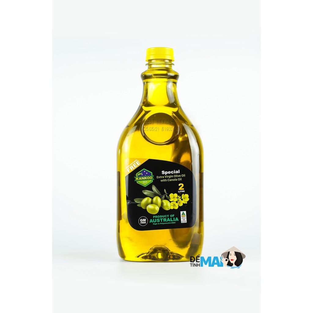 Dầu Oliu hạt cải chuyên chiên xào LOẠI 2 LÍT, làm Salad tuyệt ngon Kankoo nhẩu khẩu Úc nguyên chai (CHÍNH HÃNG)