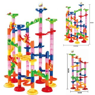 105/80Pcs Children Puzzle Diy Construction 3D Tube Building Blocks Gifts Toys